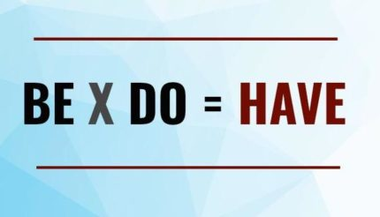 Be X Do = Have, the equation for a successful business