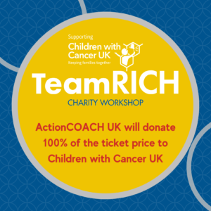 Build your effective team and support Children with Cancer UK who will receive 100% of ticket price